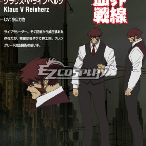 Costumi moda Ezcosplay Blood Blockade Battlefront Costume Klaus V Reinherz Cosplay