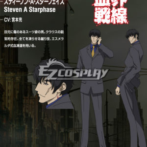 Costumi moda Ezcosplay Blood Blockade Battlefront Steven A costume cosplay Starphase