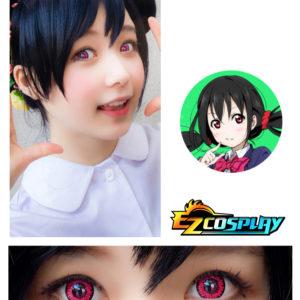 Costumi moda Ezcosplay Bella Eye Coscon LoveLive! Love Live Scuola Idol Progetto Nico Yazawa Mei Cosplay Red Lense del contatto