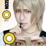 Bella Eye Coscon Sky C.C. Alibaba Saluja Totsuka Tatara Kida Masaomi Giallo Cosplay di Lense del contatto