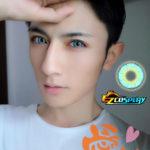 Eyekotoba congelata 3tone menta blu di Cosplay di Lense del contatto