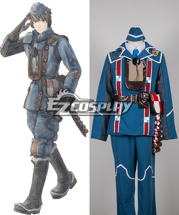 Costumi Fashion Ezcosplay Valkyria Chronicles Welkin costume cosplay Gunther