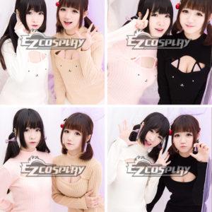 Costumi moda Ezcosplay Cat Carino sexy maniche lunghe sciolto maglia costume cosplay Pullover