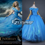 costume cosplay abito da Cenerentola 2015 Film Principessa Cenerentola Ella Partito