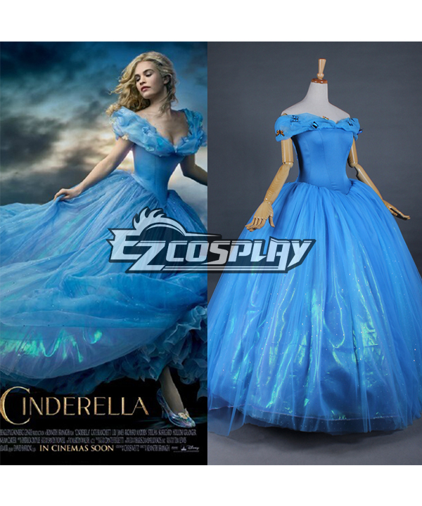 Costumi Moda Ezcosplay costume cosplay abito da Cenerentola 2015 Film Principessa Cenerentola Ella Partito
