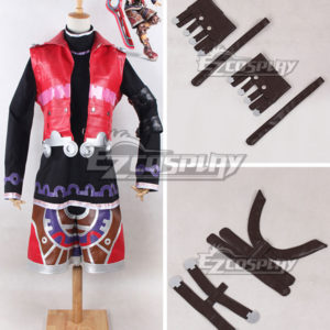 Costumi Fashion Ezcosplay Xenoblade Chronicles Shulk costume cosplay Rosso