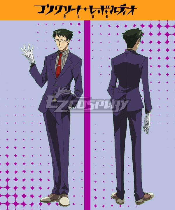 Costumi moda Ezcosplay Calcestruzzo Revolutio Konkuriito Reborutio Choujin Gensou Shiba costume cosplay Raito