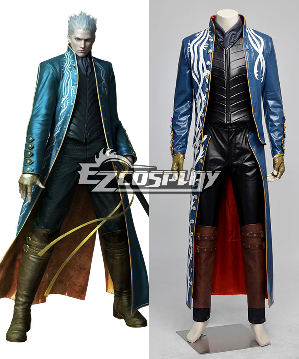 Costumi Moda Ezcosplay Devil May Cry 3 III Vergil Full Set costume cosplay