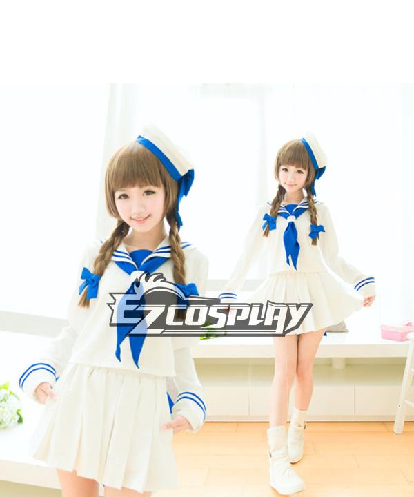 Costumes Fashion Ezcosplay Wadanohara marinaio vestito bianco Cosplay
