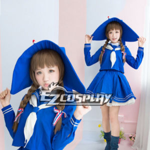 Costumi Fashion Ezcosplay Wadanohara marinaio blu costume vestito cosplay