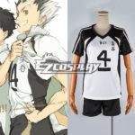 Haikyu !! No.4 nero e costume cosplay bianco