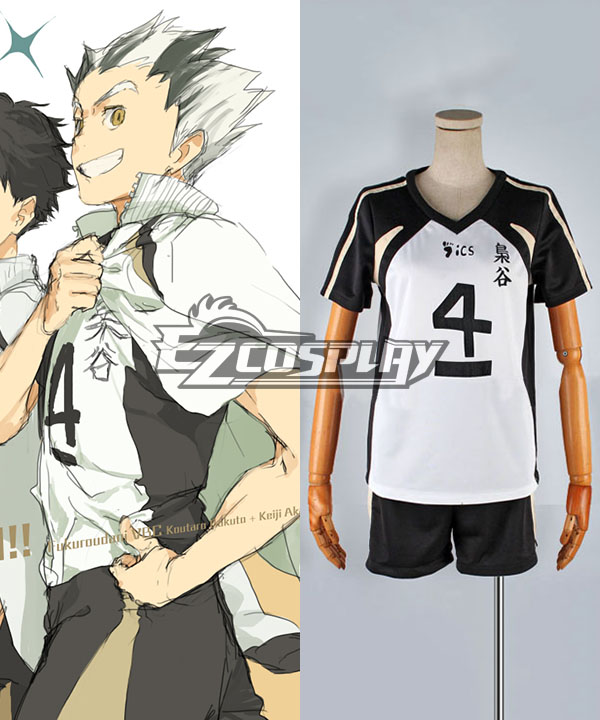 Costumi Fashion Ezcosplay Haikyu !! No.4 nero e costume cosplay bianco