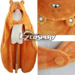 Himouto! Umaru-chan Umaru Doma arancione mantello con cappuccio Fleece Blanket costume Cosplay