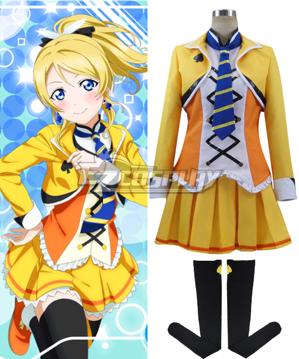 Costumi moda Ezcosplay Love Live! SR Il costume cosplay scuola Idol film Eli Ayase Ellie