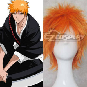 Costumi Fashion Ezcosplay Bleach Kurosaki Ichigo Cosplay arancione