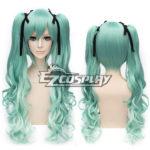 parrucca Vocaloid Miku della neve Breve verde Mixed Cosplay