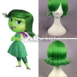 parrucca Inside Out Disgusto verde di Cosplay