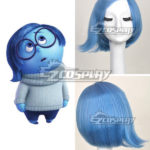 parrucca Inside Out Tristezza Blu Cosplay