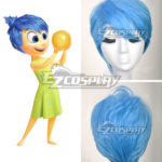 parrucca Inside Out Joy Blu Cosplay