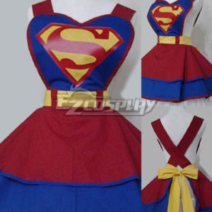 Costumi moda Ezcosplay Cosplay DC Comic Super Hero Moda Customade Retro domestica Grembiule