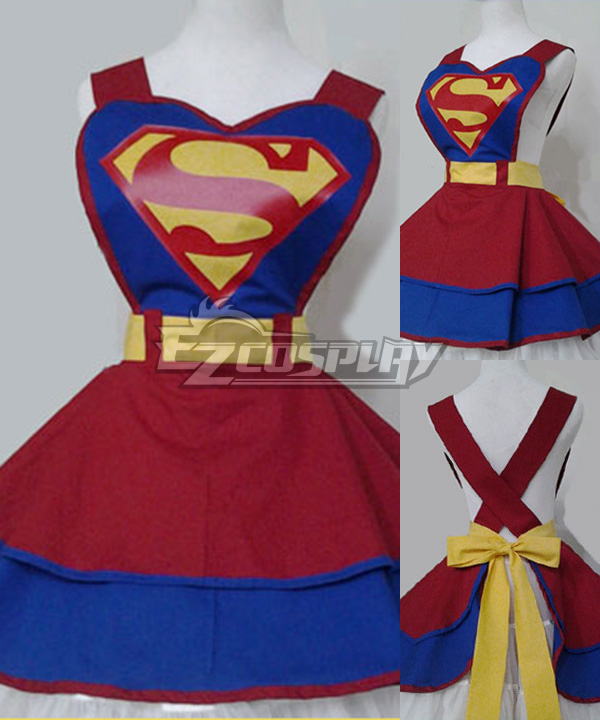 Costumi moda Ezcosplay Cosplay DC Comic Super Hero Moda Customade Retro domestica Grembiule