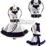 White Fashion Customade domestica Grembiule Cosplay