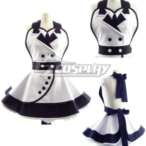 Costumi Fashion Ezcosplay White Fashion Customade domestica Grembiule Cosplay