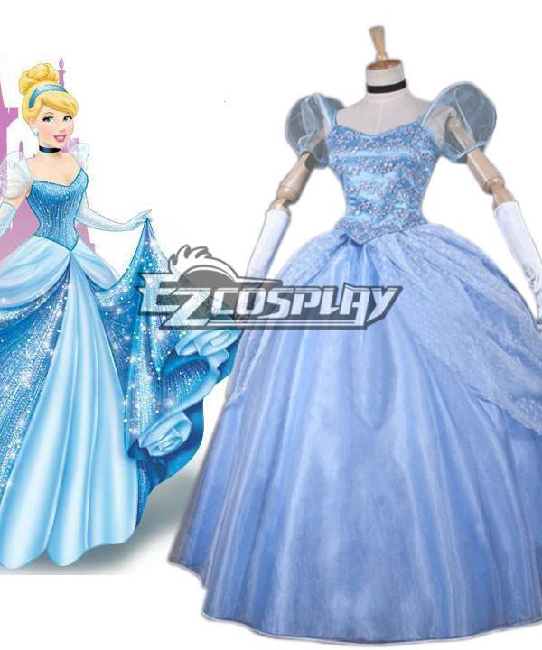 Costumi moda Ezcosplay Disney Ainimation fumetto Cenerentola principessa Costume di Cosplay Cenerentola