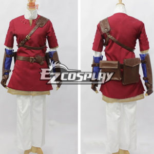 Costumi moda Ezcosplay The Legend of Zelda Twilight Princess Red link Cosplay