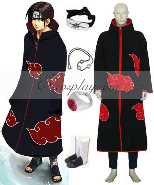 Costumi Fashion Ezcosplay Naruto Akatsuki Itachi Uchiha costume cosplay