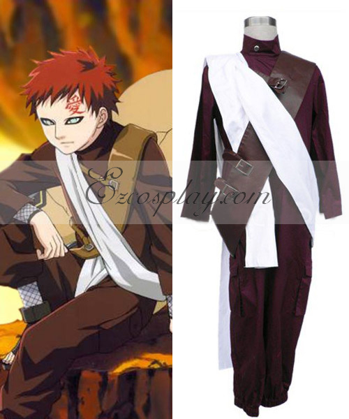 Costumi Fashion Ezcosplay Naruto Gaara 2 ° Set costume cosplay