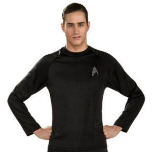 Costumi Fashion Ezcosplay Star Trek Nero Adulto Undershirt EST0024