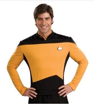 Costumi moda Ezcosplay Star Trek Next Generation Oro shirt Deluxe costume adulto EST0021