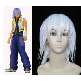 Costumi Fashion Ezcosplay Kingdom Hearts Riku Cosplay Bianco