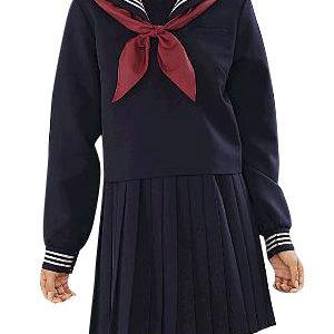 Costumi moda Ezcosplay VITA ALTA Deep Blue maniche lunghe Sailor Uniform Cosplay