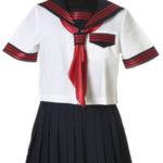 Gonna nera maniche corte Sailorl uniforme del costume Cosplay