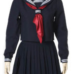 costume cosplay Deep Blue maniche lunghe Sailor Uniform