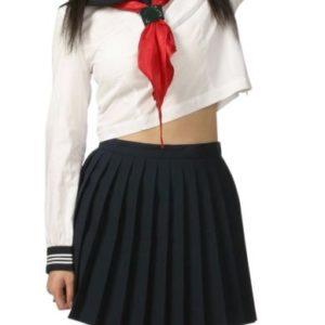 Costumi moda Ezcosplay vita alta uniforme maniche lunghe Scuola Cosplay