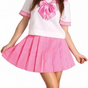 Costumi moda Ezcosplay costume cosplay uniforme di colore rosa bowknot maniche corte Scuola