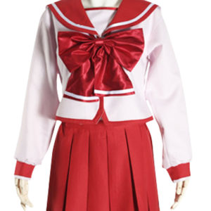 Costumi moda Ezcosplay costume cosplay uniforme rossa di Bowknot maniche lunghe Scuola