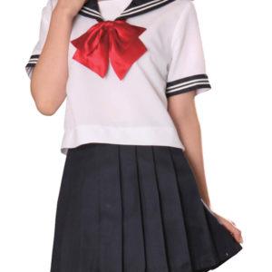 Costumi moda Ezcosplay costume cosplay Bowknot rosso maniche corte Sailor Uniform