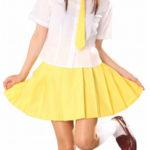costume cosplay Uniform maniche corte gialla Gonna Scuola