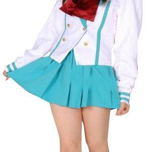 Costumi moda Ezcosplay costume cosplay uniforme Light Blue Maniche corte Scuola