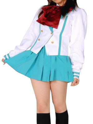 Costumi moda Ezcosplay costume cosplay uniforme Light Blue Maniche corte Scuola