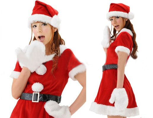 Costumi Fashion Ezcosplay Dress peluche di Natale rosso Cospaly Costume