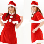 costume cosplay Natale gonna corta Rosso
