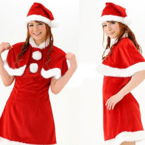 Costumi Fashion Ezcosplay costume cosplay Natale gonna corta Rosso