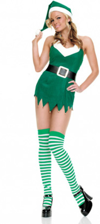 Costumi Fashion Ezcosplay Christams Verde Sesso costume cosplay Dress