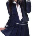 costume cosplay uniforme Deep Blue maniche lunghe Scuola