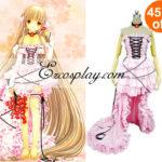 Chobits Chii vestito rosa Lolita Cosplay -Size Piccolo